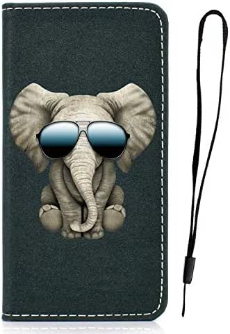 Samsung Galaxy Note 10 Case, Shockproof PU Leather Flip Slim Fit Phone Case Notebook Wallet Cover with Card Slot ID Slot Magnetic Stand TPU Bumper Protective Skin for Samsung Galaxy Note 10 Elephant
