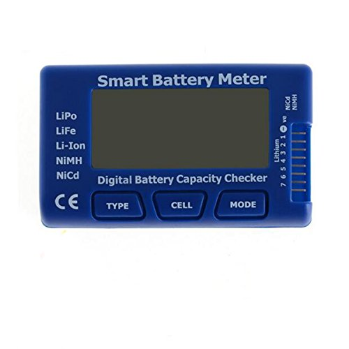5-in-1 Intelligent Cell Meter, Digital Battery Capacity Checker Controller Tester for LiPo/LiFe/ Li-ion/NiMH/Nicd