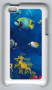 Apple iPod 4 Case and Cover - Underwater Life Custom Design Polycarbonate Hard Hard Plastic Case for iPod 4/ iPod 4th- White