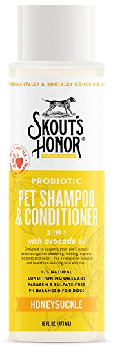 SKOUTS HONOR: Probiotic Pet Shampoo & Conditioner - 2-in-1 with Avocado Oil - Cleans and Conditions Fur, Supports Pets Natural Defenses, PH-Balanced, Sulfate Free