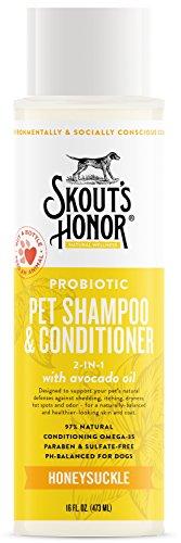 SKOUT'S HONOR Probiotic Pet Shampoo & Conditioner (2-in-1) - 16 fl. oz. ()