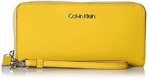 Calvin Klein Key Item Saffiano Large Continental Zip Around Wallet, marigold