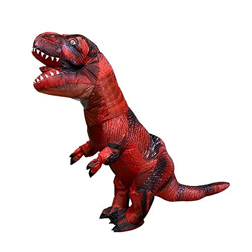 Fang zhou Dinosaur Inflate Costumes, Strong and Durable Very Easy to Perfect Halloween Birthday Parties Let You Attract Everyone's Attentio]()
