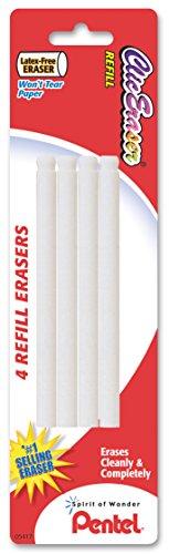 Clic Eraser Refill - Pentel Refill Eraser for Clic Eraser, Pack of 4 (ZERBP4-K6)