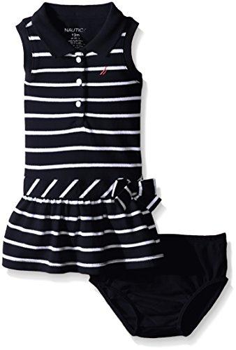 Nautica Girls Stripe Pique Dress