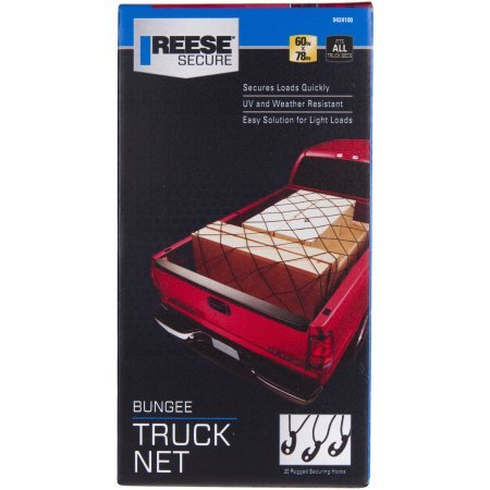 Carry Power Bungee Truck Net 60'' to 78'' Black Weather and UV-Resistant by: Reese