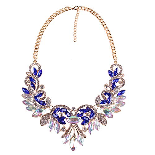 Bib Statement Necklaces for Women - Bohemian Crystal Choker Necklace, Great Jewelry for Wedding, Party and Daily Use ()
