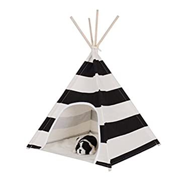 Free Love@white and black stripe design Pet Kennels Pet Play House Dog Play Tent Cat /Dog Bed