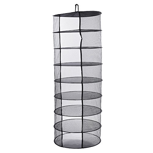 Multifunctional 8-Layer Hanging Drying Rack Foldable Outdoor