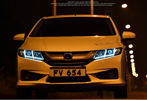 GOWE Car Styling For Honda City 2014-2016 LED Headlight for City Head Lamp LED Daytime Running Light LED DRL Bi-Xenon HID Color Temperature:5000K;Wattage:55K 1