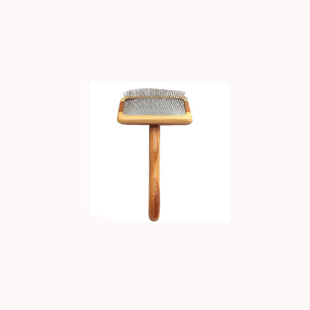 Lj pet brush Bamboo Wood Dog cat Needle Comb Than Bear Teddy Small Medium and Large Dog Hair Needle Comb Open Knot Comb