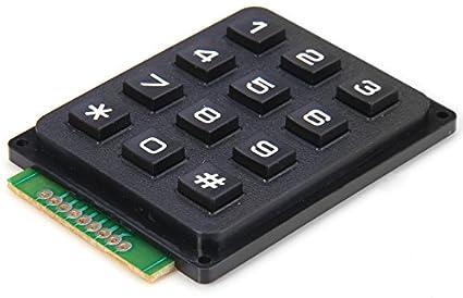 Teclado numérico 3x4 para Arduino