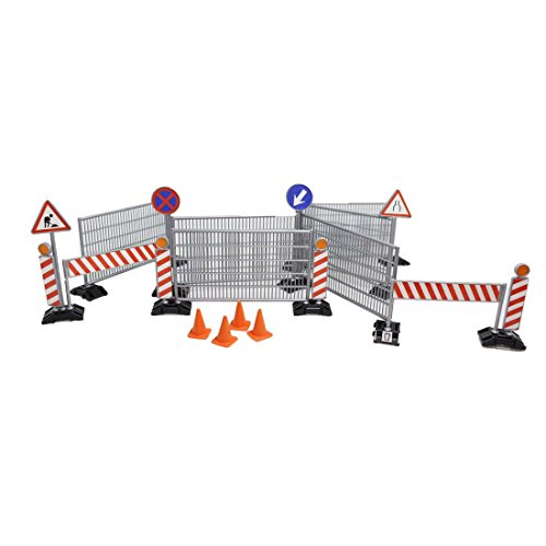 ToySharing Traffic Signs and Railings Construction Toy Set