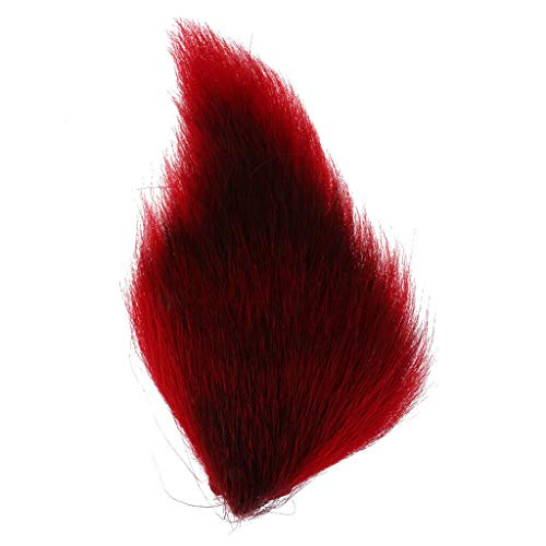 (Ameglia Large Northern Bucktail Deer Tail - Artificial Fly Tying Premium Long Hair (Color - Red))