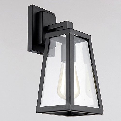JiaYouJia Antique Black Lantern Outdoor Wall Sconce Raley Outdoor Lantern