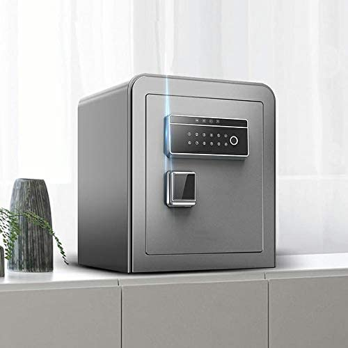 ZSAIMD Huella digital Password Safe cajas fuertes, Inicio de contraseña Box Ant-robo de alarma dual inteligente Caja de seguridad contra incendios completamente de acero de alta capacidad de noche ant: Amazon.es: Hogar