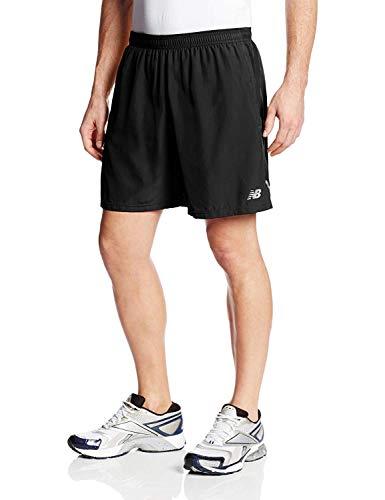 New Balance Men's 7-Inch Go 2 Shorts, Black, Large