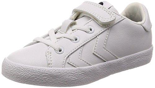 Hummel Unisex-Kinder Deuce Court White Jr Sneaker Weiß (White)