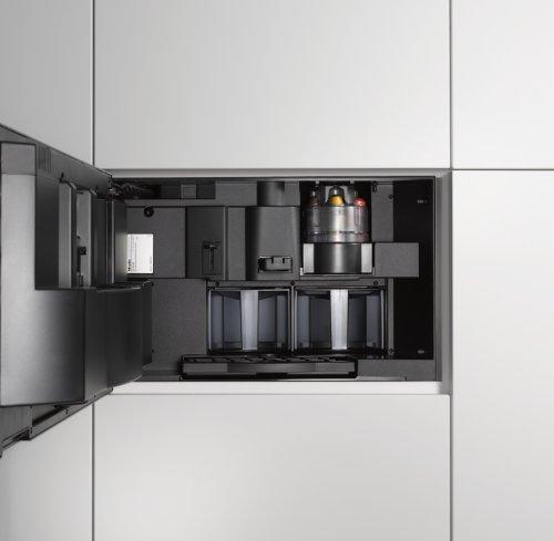 miele cva 6431 einbau kaffeevollautomat mit nespresso system 35 er nische edelstahl. Black Bedroom Furniture Sets. Home Design Ideas