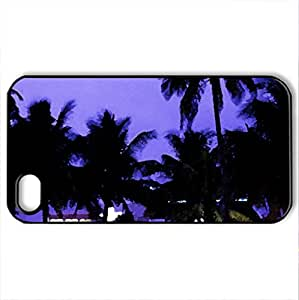 Art Deco district - Case Cover for iPhone 4 and 4s (Watercolor style, Black)