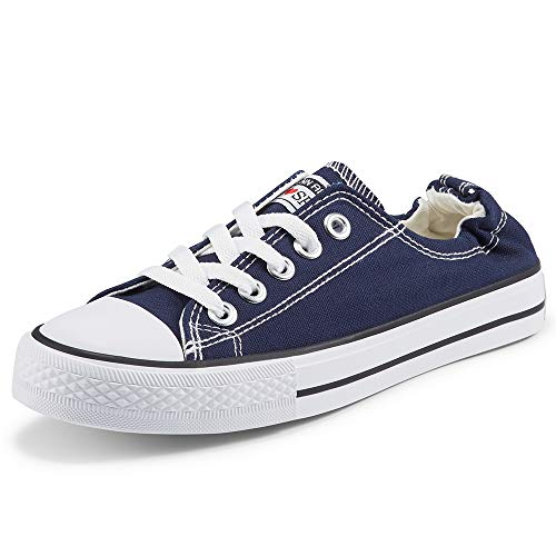 Women's Low Top Sneaker Fashion Lace Up Canvas Sneakers Shoes Classic Walking Shoes for Women