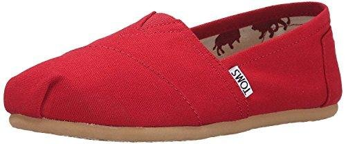 Toms Women's Classic Canvas Red Slip-on Shoe - 7 B(M) US