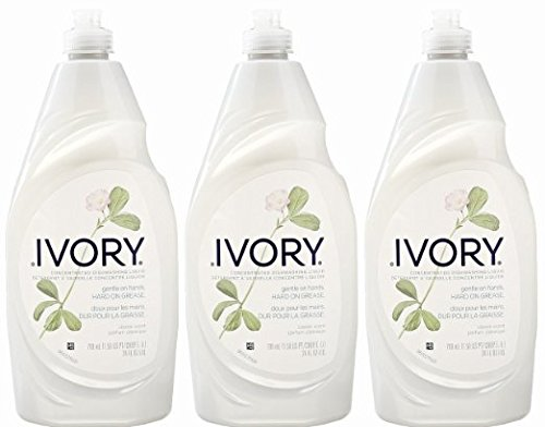 Ivory Concentrated Dishwashing Detergent, Classic Scent, 24 Ounce, (Pack of 3)...