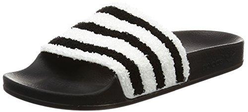 para Black y White Black Core Piscina Negro Adilette Playa de Footwear Zapatos Core Hombre Adidas w67xYUU