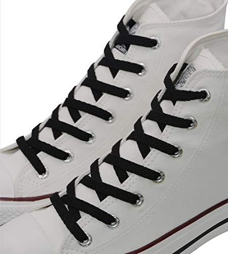"""VSUDO 2 Pairs 50"""" Black Flat Shoelaces 5/16"""" Wide Flat Sho"""