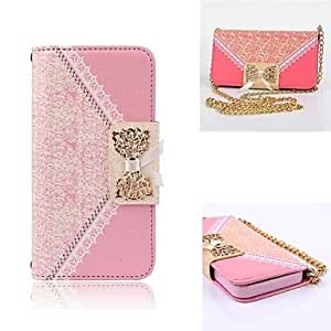 HJZ Elegant Design Cute Flip Wallet Leather Case for Full Body Case with Stand Samsung Galaxy S5 mini (Assorted Colors) , Pink