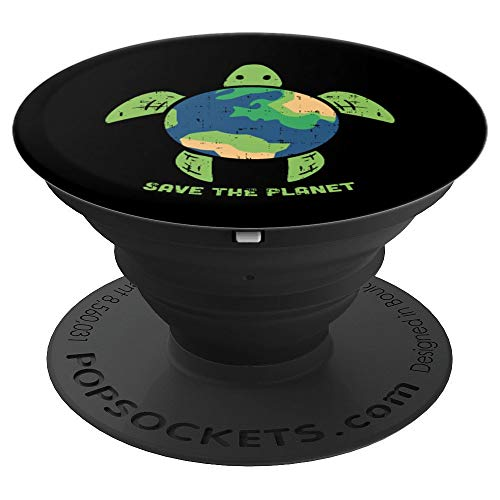 (Save The Planet Earth Day Environment Ocean Turtle Eco Gift - PopSockets Grip and Stand for Phones and Tablets)
