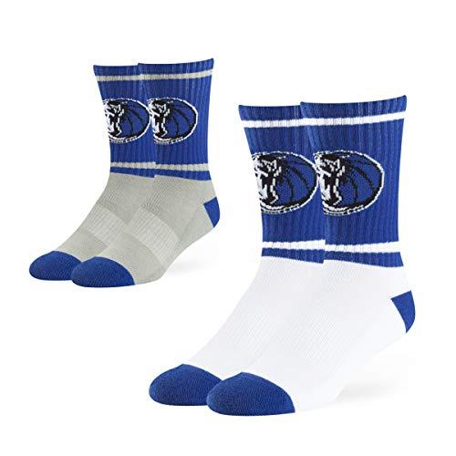 (OTS NBA Dallas Mavericks Male Dasher Sport Socks 2 Pack, Team Color, Large)