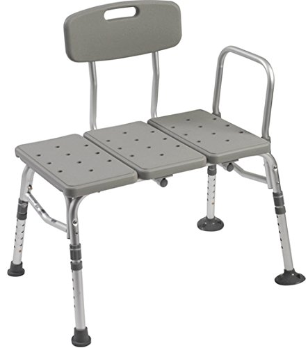 - Bathtub Transfer Bench With ADJUSTABLE BACKREST. Weight Capacity 400 Pounds. Reversible To Accommodate Any Bathroom. Tool Free Assembly. Bath Bench Made Of Aluminum And Plastic.