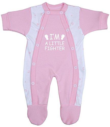 Babyprem Preemie Baby Sleepsuit Little Fighter Clothes 3.5-5.5lb Pink Prem 2