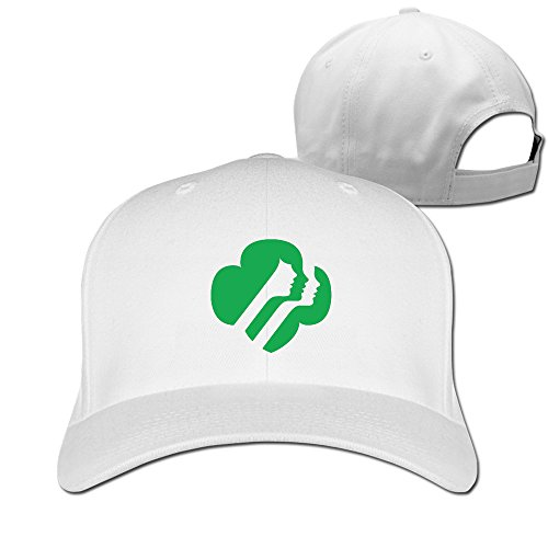 (Men Women GSUSA Girl Scouts Of The USA Baseball Caps White)