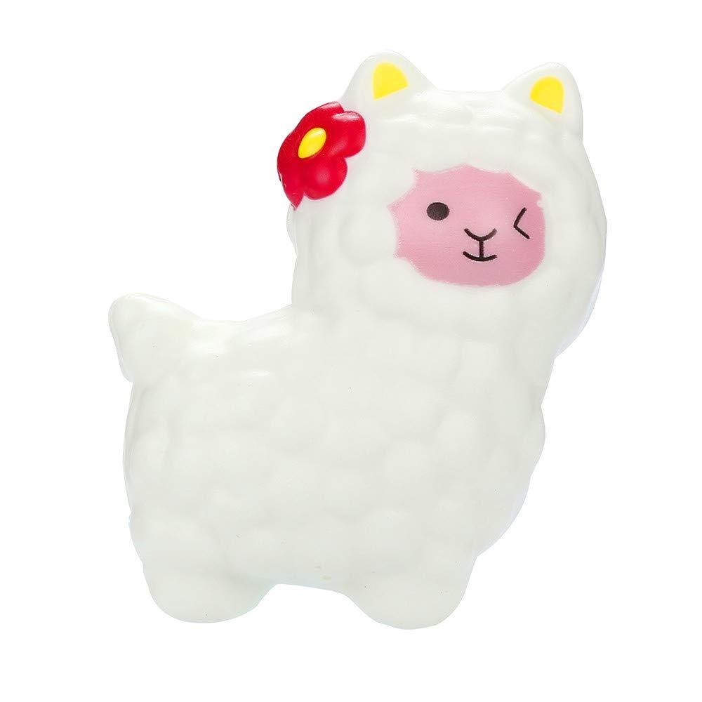 callm Squishies Llamas Alpaca Slow Rising Jumbo Squishy Toys Kawaii Cute Scented Squishies Kids Party Squishy Stress Reliever Toy (C)