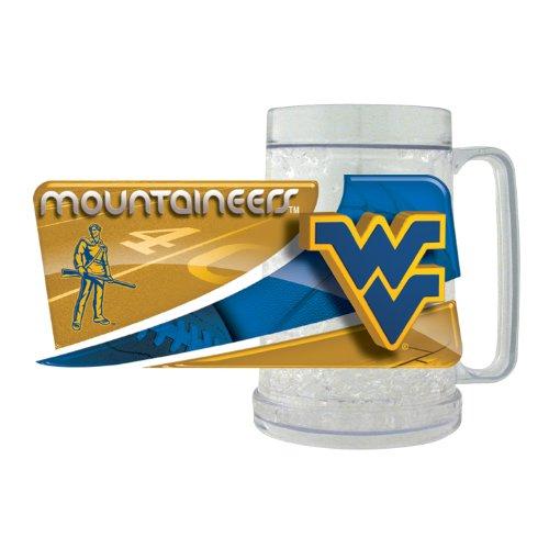 NCAA West Virginia Mountaineers FreezerMug Hunter Blue Clock