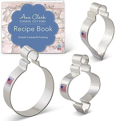 Ann Clark Cookie Cutters 3-Piece Christmas Ornament Cookie
