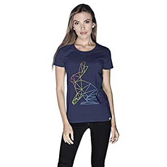 Creo Bunny Animal T-Shirt For Women - M, Navy