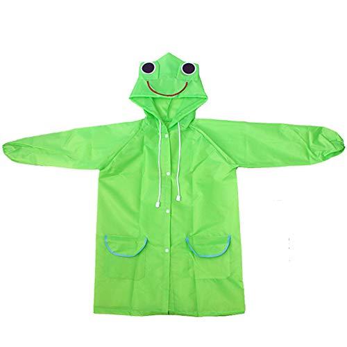 Children Raincoat,SuperUS Toddler Rain Jacket Girls Boys Cartoon Raincoat Waterproof Hooded Long Rainwear Rain Slicker for Boy for Girl