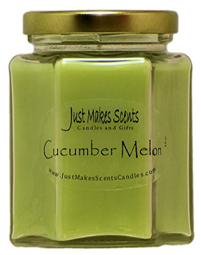 Just Makes Scents Cucumber Melon Scented Blended Soy Candle,Green