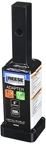 "Reese Towpower 7020500 1-1/4"" to 2"" Receiver Adapter - 6"" Long"