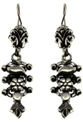 Traditional Indian Earrings Starling Silver Alloy Artisan Crafted Jewelry