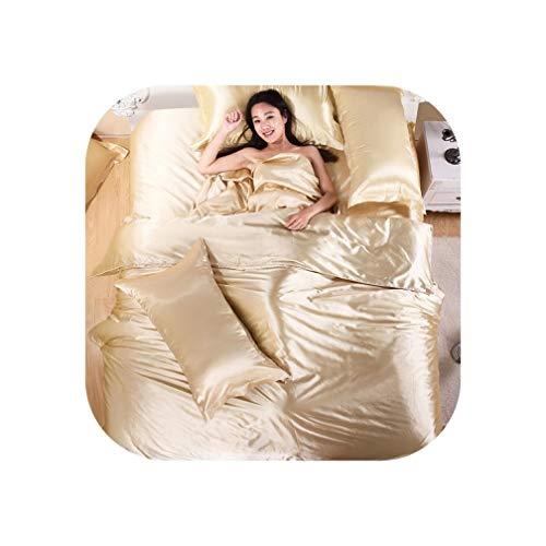 - QianQianStore Bedding Set Bedding Silk Frozen Quilt Set Piece Set Bed Pillow Case,King Queen Twin Size,Purple,Family Suite 5 pcs