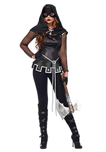 Italian Renaissance Costumes (Leg Avenue Women's Costume, Black/SILV,)