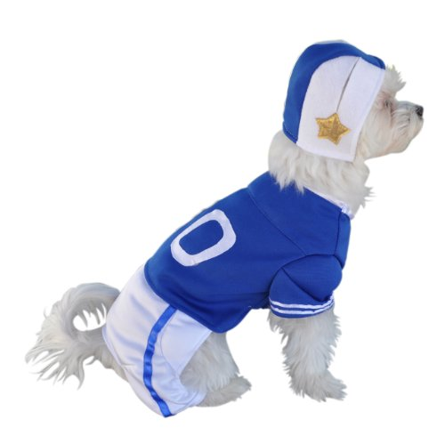 Anit Accessories Blue Football Jersey Dog Costume, 12-Inch
