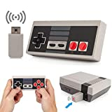 Wireless Rechargeable Controller,NES Wireless Gamepad for Nintendo Mini NES Classic Edition, Wireless Joypad & Gamepads Controller (Gary)