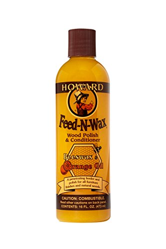 Price comparison product image Howard FW0016 Feed-N-Wax Wood Polish and Conditioner, Beeswax & Orange Oil, 16-Ounce