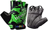 LIOOBO Kids Outdoor Sports Half Finger Gloves Non-Slip Breathable Workout Gloves Shockproof Bicycle Racing Glo