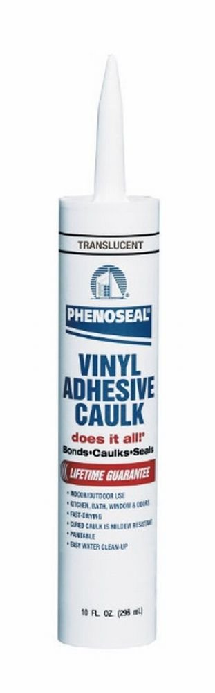 Dap 00006 Translucent Phenoseal Does It All Vinyl Adhesive Caulk, 10-Ounce